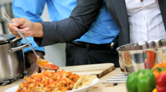 Happy Young African American Family Home Dinner - stock footage
