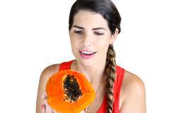 delicious papaya - stock photo