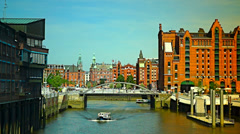 Hamburg in a sunny day Stock Footage