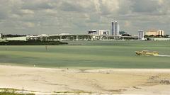Clearwater Harbor & Memorial Causeway Bridge Stock Footage