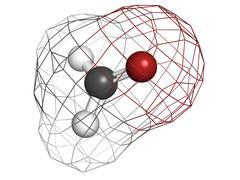 formaldehyde (ch2o), molecular model. formaldehyde is a known carcinogenic ag - stock illustration