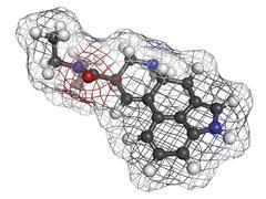 Lysergic acid diethylamide (lsd) hallucinogenic drug, molecular model Stock Illustration