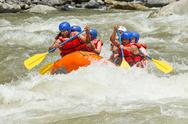 Stock Photo of white water rafting