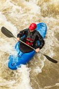 Stock Photo of River Rafting In Kayak Ecuador South America
