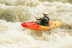Stock Photo of Whitewater Kayaking Level Five Difficulty Level