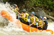 Stock Photo of whitewater rafting