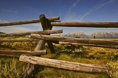 Stock Photo of Ranch fence