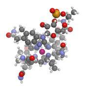 vitamin b12 (cyanocobalamin) molecule - stock illustration
