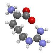 Arginine (arg, r) amino acid, molecular model. Stock Illustration