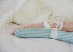 Quilted hangers Stock Photos