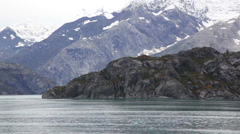 Alaska coast rugged - stock footage