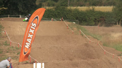 Slow motion motor cross jumps - stock footage
