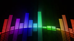 Audio equalizer background. Multicolored-purple. Loopable. Stock Footage