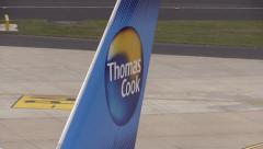 Thomas Cook airplane Stock Footage