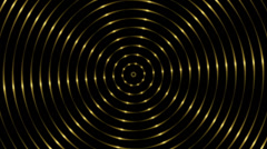 Gold circle line, abstract loop motion background Stock Footage