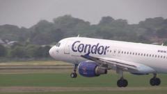 Condor airplane landing Stock Footage