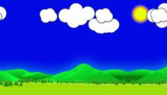 Loop motion background, animation mountain Stock Footage
