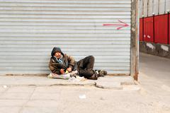 poverty in china - stock photo