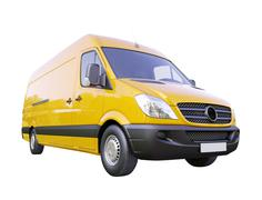 commercial van isolated - stock illustration