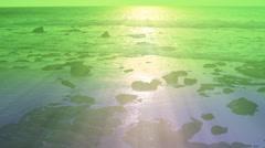 Hawaiian rocky beach sunset #1 - stock footage