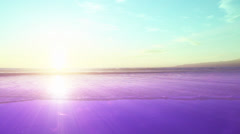 Purple and Green Beach Sunset #71 Stock Footage
