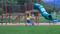 Girl bully at the park. Stock Footage