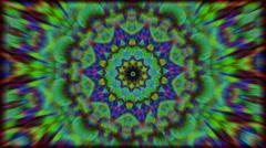 psychedlic transition kaleidoscope 5 - stock footage