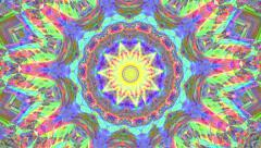 Psychedlic transition kaleidoscope 7 Stock Footage