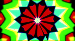 Psychedelic transition kaleidoscope grain scratches 3 Stock Footage
