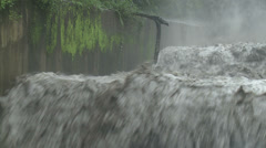 Raging River Flood Waters After Hurricane Stock Footage