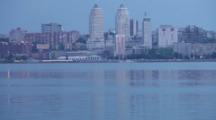 Evening Dnieper Stock Footage
