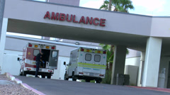 Ambulance Worker Dons Gloves ED Stock Footage