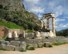 the temple of athena pronaea - stock photo