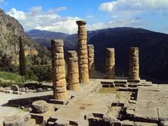 the temple of apollo - stock photo
