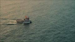 Fishing trawler on the water HD Stock Footage