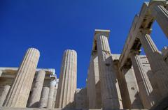 acropolis - propylaea - stock photo