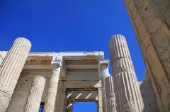 Acropolis - propylaea Stock Photos