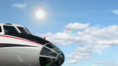 Commercial Airliner in Flight Stock Footage