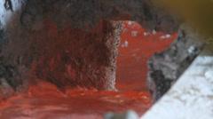 Red Hot Liquid Alumimum Stock Footage