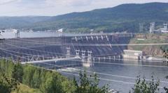 Krasnoyarsk hydroelectric power station - stock footage