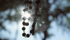 cross,rosary - stock footage