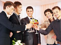 Stock Photo of group people at stage party .