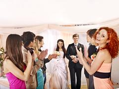 wedding dance. - stock photo