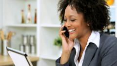 Close Up Female Ethnic Business Advisor Working Home Stock Footage