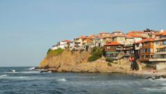 Sozopol Old Town Vacation Tourism HD Stock Footage