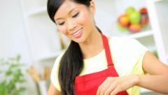 Female Hands Kitchen Fresh Market Vegetables Close Up Stock Footage