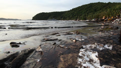 OIL SPILL LANDSCAPE BEAUTIFUL UGLY CONTRASTS Stock Footage