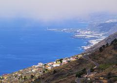 la palma - view from volcano san antonio - stock photo