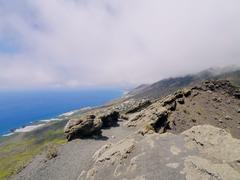 volcano san antonio in fuencaliente on la palma - stock photo