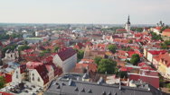 Panoramic View of Tallinn Stock Footage
